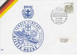 "PU 117/285  Marine - Kieler Woche - Tendler ""Elbe"" A 61 1987, Kiel 1 - BRD"