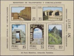 Peru History Monument Historico Sheet MNH - Archeologia