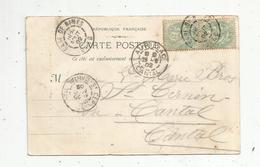 Carte Postale ,  1902 ,  GARE DE NIMES , AURILLAC ,  ST CERNIN ,  3 Scans ,  église Sainte Baudile - 1877-1920: Période Semi Moderne