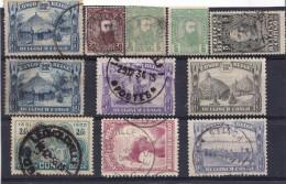 Congo Belge - Lot 2 Timbres 1887/94 Et 8 Timbres 1923/44 - Belgisch-Kongo