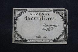 FRANCE - Lot De 3 Assignats , à Voir - L 31719 - Assignats & Mandats Territoriaux