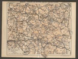 CARTE PLAN 1931 - MORVAN CORBIGNY LES SETTONS SAULIEU CHINON - ROUTES NATIONALES AUTRES ET CHEMINS - MONTSAUCHE CUSSY - Topographical Maps