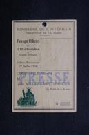 FRANCE - Carte De Presse Pour Le Voyage Du Roi Et De La Reine D 'Angleterre à Villers Bretonneux En 1938 - L 31720 - Vieux Papiers