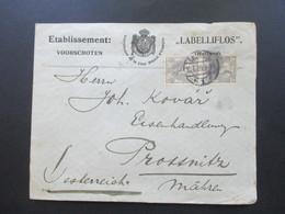 Niederlande 1909 Fournisseur De La Cour Royale D'Espagne Labelliflos Nach Prossnitz Mähren Gesendet! Etablissement Voors - Periode 1891-1948 (Wilhelmina)