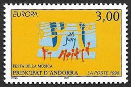 ANDORRE  1998 -  YT 504  -  Europa  - NEUF** - Cote  1.90e - Andorre Français