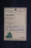 FRANCE - Carte De Presse  Pour Le Voyage Du Roi Et De La Reine D 'Angleterre En 1938 - L 31726 - Vieux Papiers