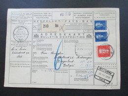Niederlande 1950 / 51 3 Paketkarten Mit Vielen Stempeln Und Klebzettel Oss Und Document / Stempel Auto Usw. - Periodo 1949 – 1980 (Juliana)