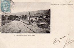CPA   LA REUNION---LE PONT DU BARACHOIS A ST-DENIS---SOUVENIR DE L'ILE DE LA REUNION---1905 - Saint Denis