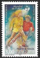 ANDORRE  1998 -  YT 507  -  Football 98 Surchargé  - NEUF** - Cote  5.60e - Andorre Français