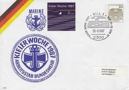 PU 117/304  Marine - Kieler Woche 1987 - Arbeitsstab Bundeswehr, Kiel 1 - BRD