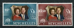 Seychelles ** N° 303/304 - Noces D'argent De La Reine Elizabeth II - - Seychelles (1976-...)
