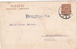 SLESVIG 1920    ENTIER POSTAL/GANZSACHE/POSTAL STATIONERY   CARTE DE FLENSBURG - Alemania