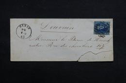 BELGIQUE - Lot De 4 Enveloppes Période 1856 /1863 , Même Archive - L 31730 - 1849-1865 Medallions (Other)