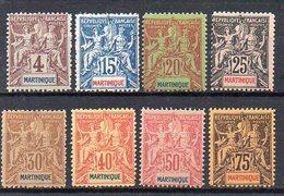 Martinique : Lot De 8 Timbres Type Groupe FAUX FOURNIER Neufs - Neufs
