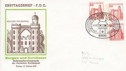 PU 136 D1/1 Ersttagsbrief Schloss Pfaueninsel - Burgen Und Schlösser, Bonn 1 - Privatganzsache - BRD