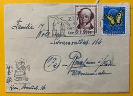 8677 - Nos 153 & 157 Sur Petite Lettre Pro Juventute Circulée De Zurich Pour L'Allemagne 1954 - Pro Juventute