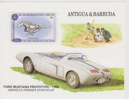 ANTIGUA Et BARBUDA BLOCS FEUILLETS :  FORD MUSTANG PROTOTYPE 1962 - Automobili