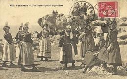 ( PENMARCH )( 29 FINISTERE )( FOLKLORE  )( COSTUMES )( DANSES )( BRETAGNE ) UNE RONDE DE PETITES BIGOUDENES - Danses