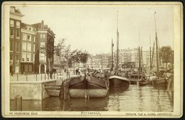 Nederland / Netherlands: Rotterdam, De Geldersche Kade (Kabinetfoto) Cca1880 - Plaatsen
