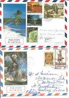 Polynésie Française  Lot De 6 Enveloppes Timbres Variés - Poste Aérienne
