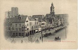 51 Reims N°1078 Place Et Eglise Saint Jacques Vers 1904 Café De La Couture Comptoir De La Comète Echafaudage Cathédrale - Reims