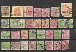 Varia (32) Op Type Albert I : Noodstempels, Fortunes, Sterstempels,étoiles....mooie Staat/bonne état  Cfr Scan - 1915-1920 Albert I