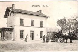 38 ISERE La Diligence Ou Patache De St Priest Devant La Gare D'HEYRIEUX - Francia