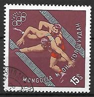 MONGOLIE    -  1964 .  JO De Tokyo ,oblitéré.   Lutte  /  Catch - Mongolie
