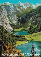 1 AK Germany Bayern * Blick Auf Den Königssee Mit Dem Obersee Und Einem Wasserfall * - Germania