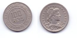 Brazil 100 Reis 1928 - Brésil
