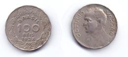 Brazil 100 Reis 1938 Dr. Getulio Vargas - Brésil