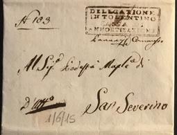 1815 TOLENTINO - 1. ...-1850 Prefilatelia