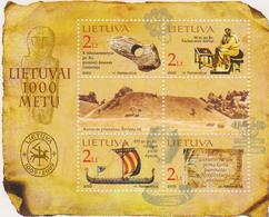 Lituania History Monument Archeologysheet MNH - Archeologia