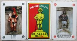 JEU COMPLET DE 54 CARTES A JOUER MANNEKEN PIS 54 DIFFERENTS COSTUMES SOUVENIR DE BRUXELLES BELGIQUE - Juegos De Sociedad