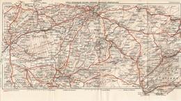 CARTE PLAN 1931 - DOLE BESANCON SALINS ORNANS MORTEAU PONTARLIER JURA FORET DE CHAUX SUISSE - Topographische Karten