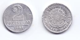 Brazil 2 Cruzeiros 1961 - Brazil