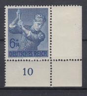 Dt. Reich 852 Eckrand Rechts Unten 8 Jahre Arbeitsdienst 6+ 14 Pf Postfrisch - Deutschland