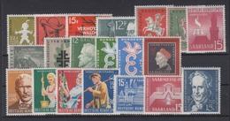 Saarland 429-448 Komplette Jahrgänge 1958 + 1959 20 Werte Postfrisch - Deutschland