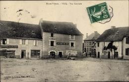 Cp Vicq Haute Vienne, Vue Ventrale, Restaurant, Hotel Bancaud, Platz - France