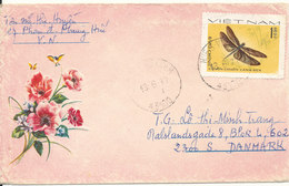 Vietnam Air Mail Cover Sent To Denmark 18-6-1977 Single Franked - Vietnam