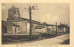 CPSM 33 Gironde Lacanau Ville La Place De L'Eglise - France