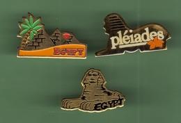 EGYPTE *** Lot De 3 Pin's Differents  *** 1017 - Ciudades