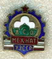 "Uzbekistan 1965.Sports Society ""Mechnat"". Award Sign From Heavy Metal. - Badges"