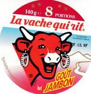 ETIQUETTE FROMAGE VACHE QUI RIT -   8 Portions -  Num  825 - Fromage