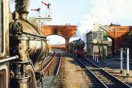 №120.25 Postcard Modern Rare New Passenger Locomotive Train Railway Junction - Trains