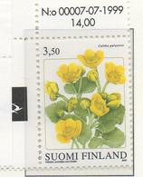 PIA - FINLANDIA - 2000  :  Piante E Fiori Delle Provincie Finlandesi -Caltha Palustris  -  (Yv 1490) - Flora