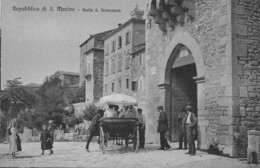 """07706 """"REPUBBLICA DI SAN MARINO - PORTA SAN FRANCESCO"""" ANIMATA, CARROZZA CART. ORIG. NON SPED. - San Marino"""