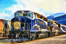№120.28 Postcard Modern Rare New Passenger Locomotive Train Railway Depot - Trains