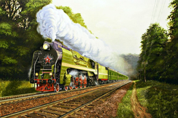 №120.29 Postcard Modern Rare New Passenger Locomotive Train Russian Railway - Trains