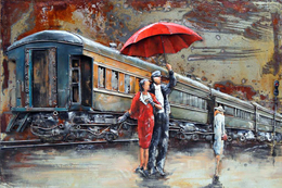 №120.32 Postcard Modern Rare New Passenger Locomotive Train Railroad Station - Trains